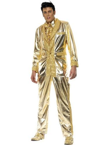 Elvis Gold Fancy Dress Costume Thumbnail 1