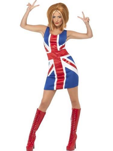 Union Jack Dress Fancy Dress Costume Thumbnail 1