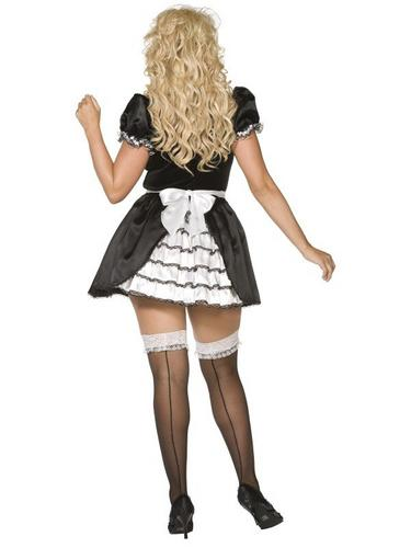 Plus Size French Maid Fancy Dress Costume Thumbnail 4