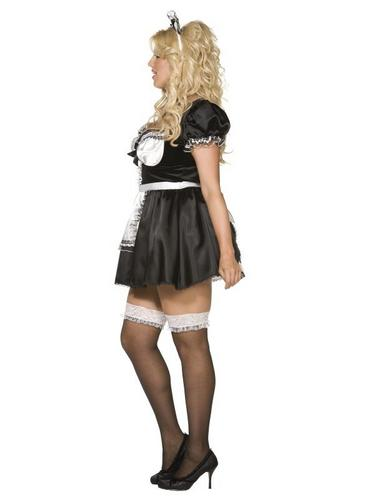 Plus Size French Maid Fancy Dress Costume Thumbnail 2