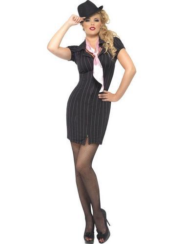 Gangster Lady Fancy Dress Costume Thumbnail 2