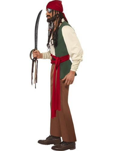 Caribbean Drunken Pirate Fancy Dress Costume Thumbnail 3