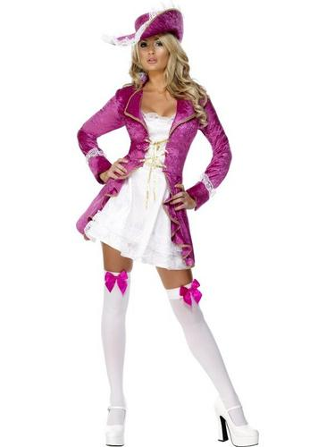 Pink Pirate Treasure Fancy Dress Costume Thumbnail 2