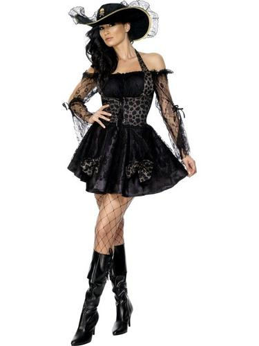 Sexy Swashbuckler Fancy Dress Costume Thumbnail 1