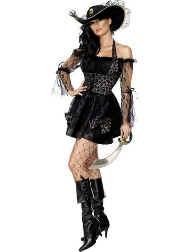 Sexy Swashbuckler Fancy Dress Costume Thumbnail 2