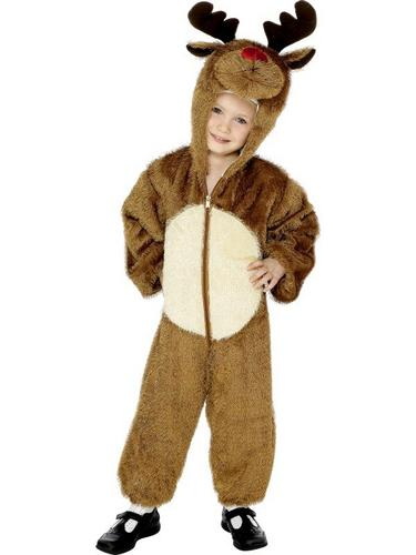 Reindeer Fancy Dress Costume Child Thumbnail 1