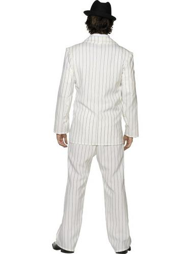 Gangster Suit Fancy Dress Costume White Thumbnail 3