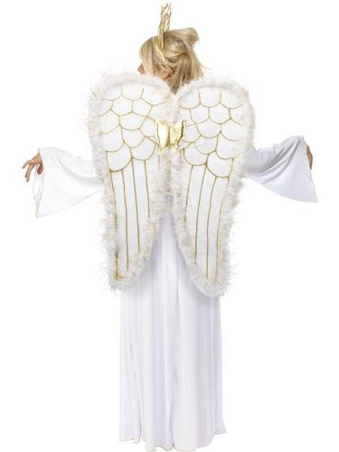 Ladies Angel Fancy Dress Costume Thumbnail 3