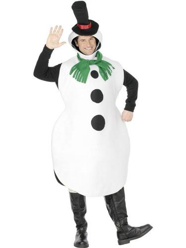 Gents Snowman Fancy Dress Costume Thumbnail 3