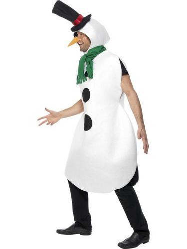 Gents Snowman Fancy Dress Costume Thumbnail 2