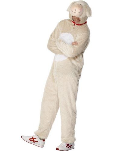 Lamb Fancy Dress Costume Adult Thumbnail 1