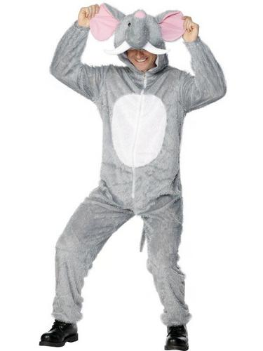 Elephant Fancy Dress Costume Adult Thumbnail 1