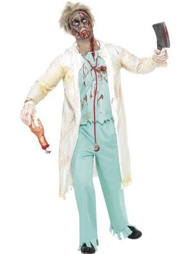 Zombie Doctor Fancy Dress Costume Thumbnail 1