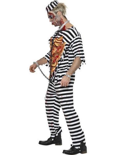 Zombie Convict Fancy Dress Costume Thumbnail 3
