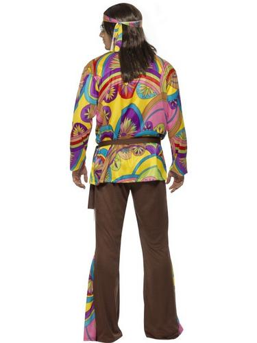 Psychedelic Hippie Fancy Dress Costume Thumbnail 2