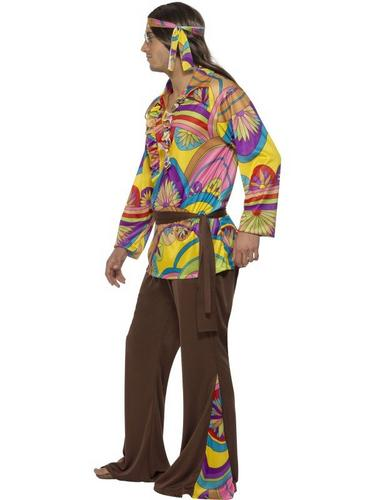 Psychedelic Hippie Fancy Dress Costume Thumbnail 3