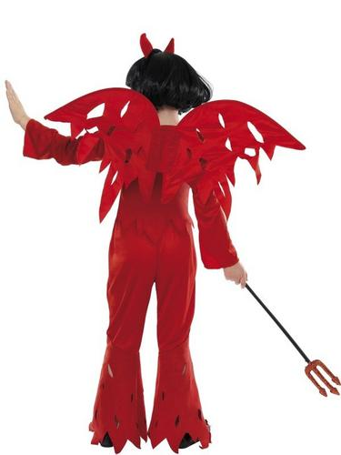 SALE! Kids Red Spooky Devil Girls Halloween Party Fancy Dress Costume Outfit Thumbnail 2