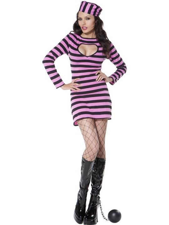 Convict Costume Pink Thumbnail 2