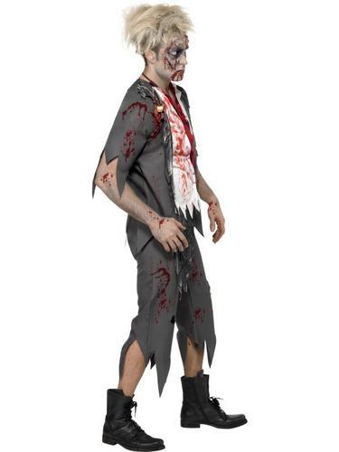Zombie School Boy Fancy Dress Costume Thumbnail 3