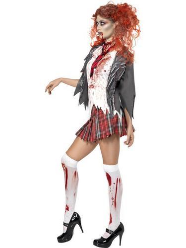 Zombie Schoolgirl Fancy Dress Costume Thumbnail 3