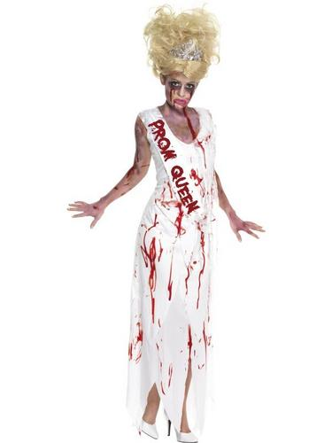 Zombie Prom Queen Fancy Dress Costume Thumbnail 1
