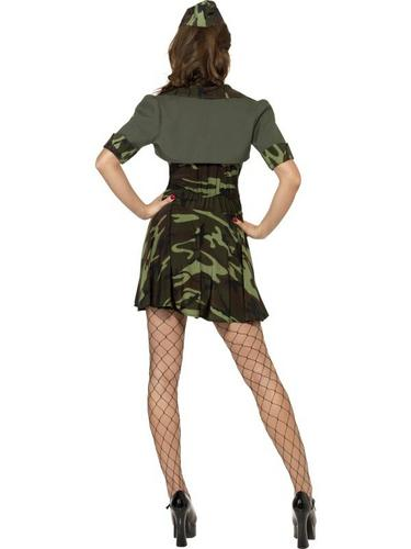 Military Babe Fancy Dress Costume Thumbnail 2