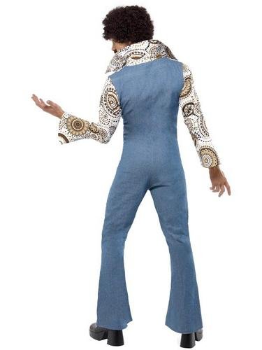 Gents Groovy Dancer Fancy Dress Costume Thumbnail 2