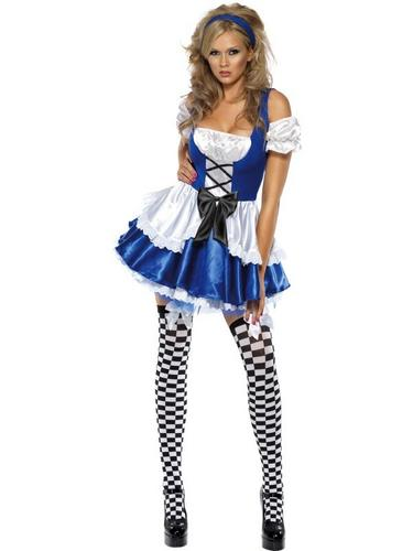 Sexy Alice Fancy Dress Costume Thumbnail 1