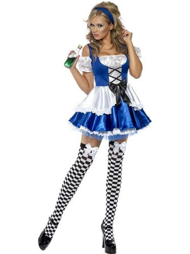 Sexy Alice Fancy Dress Costume Thumbnail 2