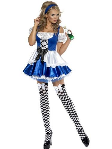Sexy Alice Fancy Dress Costume Thumbnail 3