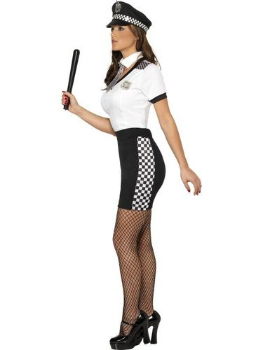 Ladies Cop Fancy Dress Costume Thumbnail 3