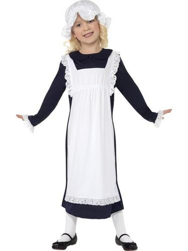 Victorian Poor Girl Fancy Dress Costume Thumbnail 1