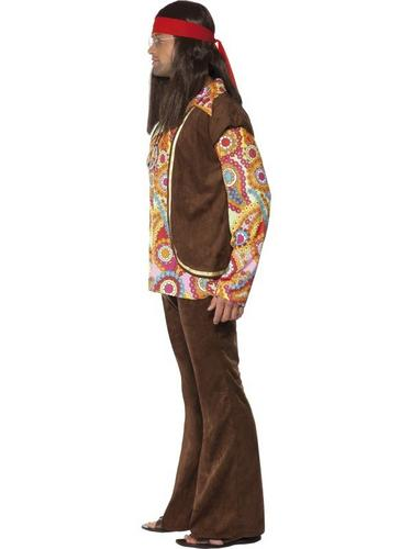 Psychedelic 1960S Hippie Fancy Dress Costume Thumbnail 3