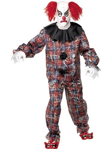 Scary Clown Fancy Dress Costume Thumbnail 1