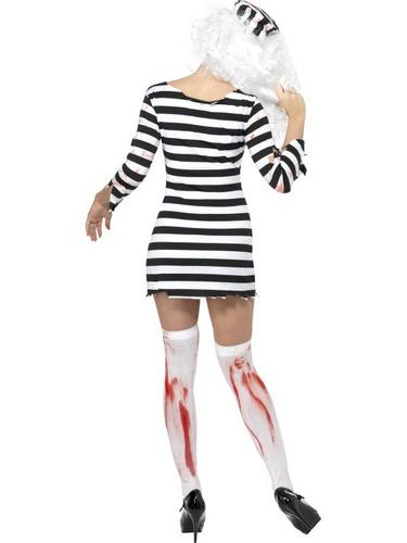 Female Zombie Convict Fancy Dress Costume Thumbnail 2