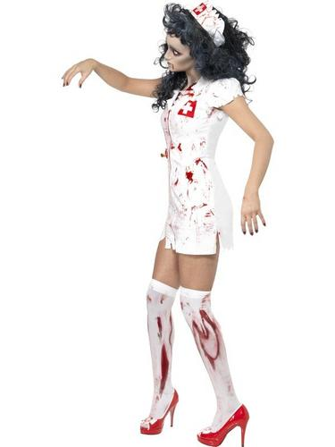Zombie Nurse Fancy Dress Costume Thumbnail 3