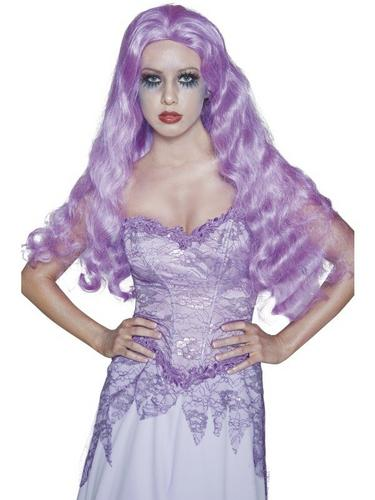 Purple Bride Fancy Dress Wig Thumbnail 1