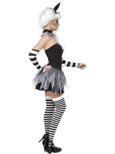 Sinister Pierrot Fancy Dress Costume Thumbnail 3
