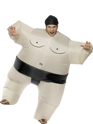 Sumo Wrestler Inflatable Fancy Dress Costume Thumbnail 1