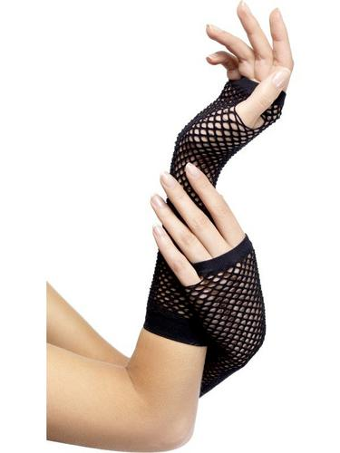 Fishnet Gloves Black Thumbnail 1