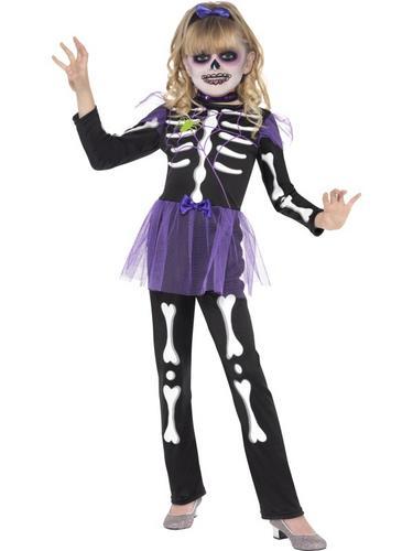 Girls Skellie Punk Fancy Dress Costume Thumbnail 2