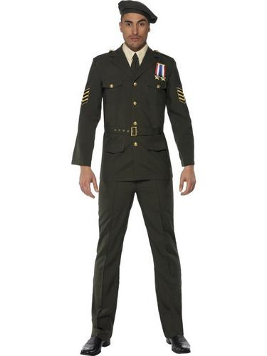 Male Wartime Officer Fancy Dress Costume Thumbnail 1