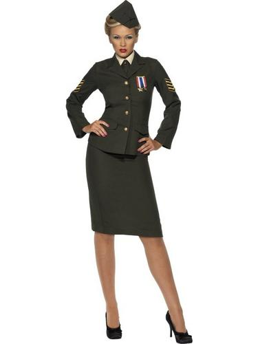 Wartime Officer Fancy Dress Costume Thumbnail 1
