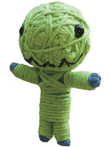 Voodoo String Doll Charm, Little Green Monster Thumbnail 1
