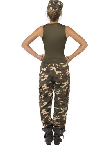 Khaki Camo Fancy Dress Costume Thumbnail 2