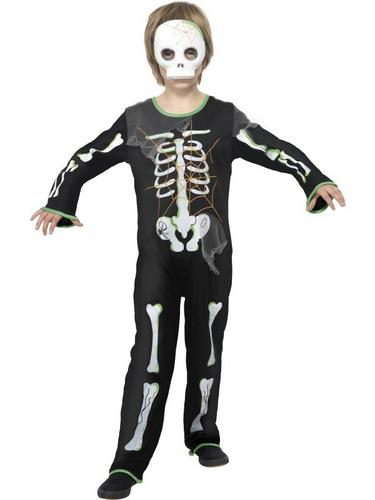 Boys Scary Spider Skeleton Fancy Dress Costume Thumbnail 1