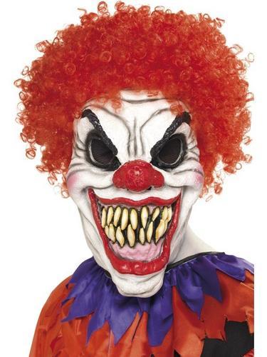 Scary Clown Fancy Dress Mask Thumbnail 1