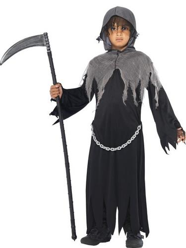 Grim Reaper Fancy Dress Costume Kids Thumbnail 1