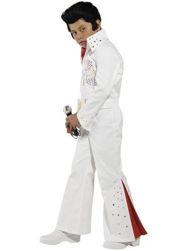 Boys 2 Piece Elvis Fancy Dress Costume Thumbnail 2