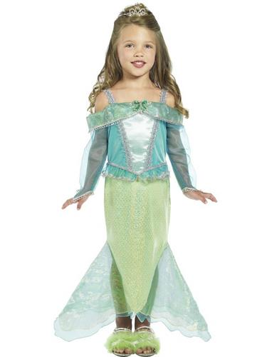 Girls Mermaid Princess Fancy Dress Costume Thumbnail 2